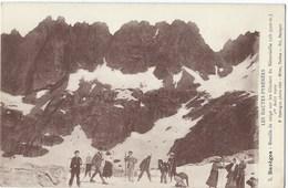 65- Barèges -carte Photo - BATAILLE DE NEIGE SUR LE GLACIER DE NEOUVIEILLE EN 1909 -excellent état - France