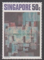 Singapore 180 1972 Contemporany Art 50c Rhythms In Blue, Mint Never Hinged - Singapore (1959-...)