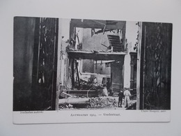 CPA Original:  ANTWERPEN 1914 - Vredestraat - Oorlogs- Bombardement, Cliché Mauquoy, Nadruk Verboden - Antwerpen