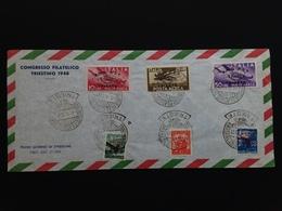 TRIESTE A - Congresso Filatelico Di Trieste 1948 Su Busta + Spese Postali - 7. Trieste