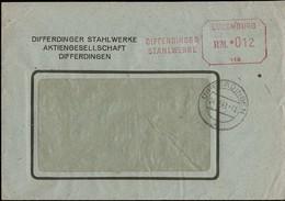 1943 Lettre Commerciale  Differdinger Stahlwerke, Stempel Luxemburg RM. 012 - Luxembourg
