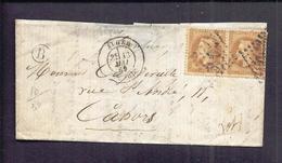 PLI ALGERIE B Tàd 13 Mai 1869 Alger Vers Cahors Via Cette à Bordeaux - Marcophilie (Lettres)