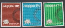 Singapore 239-241 1974 Centenary Of Universal Postal Union, Mint Never Hinged - Singapore (1959-...)
