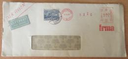 "Danemark / Danmark - EMA KOBENHAVN ""IRMA"" + Timbre YT N°313 Sur Enveloppe Vers étranger - Cachet 1947 - Marcophilie - EMA (Empreintes Machines)"