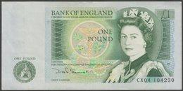 UK - £1 One Pound Note, CX04, Somerset, 1980 - VG - 1952-… : Elizabeth II.