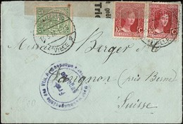 1918 Occupation Lettre Censure 15.5.1918, Timbres: 87,2x92, 2Scans - Luxembourg