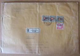 Suisse / Helvetia - Recommandé (25x34 Cm) Vers USA - Bande 3 Timbres 2Fr YT N°211 + YT N°293 - Cachet 1937 - Marcophilie