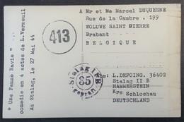 CP Photo Prisonnier De Guerre STALAG II B Czarne Czluchowski POLOGNE Circulée En Mai 1944 > Woluwe-Saint-Pierre - Marcophilie (Lettres)