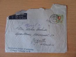Suisse / Helvetia - Timbre Armoiries 90c Sur Enveloppe Vers Colombie (Bogota) - Cachet 4 Mars 1939 - Lettres & Documents
