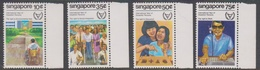 Singapore 411-414 1981 International Year Of Disabled, Mint Never Hinged - Singapore (1959-...)