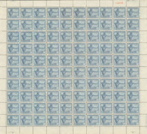 Congo 0112** 50c Bleu Gris Sheet / Bogen / Feuille De 100  - MNH- - Feuilles Complètes