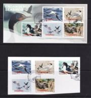 New Zealand 2014 Endangered Seabirds Set Of 5 + Minisheet Used - New Zealand