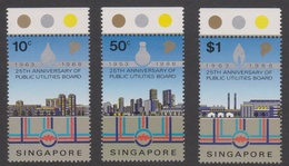 Singapore 583-585 1988 25th Anniversary Of Public Utilities Board, Mint Never Hinged - Singapore (1959-...)
