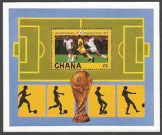 Ghana 1982 World Cup Football Soccer Spain Michel Block 97 Mint - Ghana (1957-...)