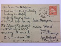 ALGERIA 1928 Postcard With Biskra To Constantine T.P.O. - Algeria (1962-...)