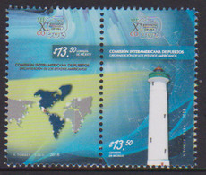 MEXICO, 2018, MNH,LIGHTHOUSES , MAPS,   2v - Lighthouses