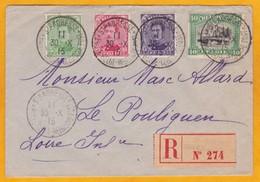1915 - Enveloppe Recommandée De Sainte Adresse, France (Gouvernement Belge En Exil) Vers Le Pouliguen - Altri