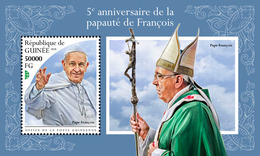 Guinea. 2018 5th Anniversary Of The Papacy Of Francis. (503b) - Popes