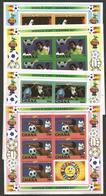 Ghana 1982 World Cup Football Soccer Spain Michel 949-952 Unperforated Sheets Mint - Ghana (1957-...)