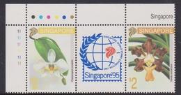 Singapore 724-725 1993 Singapore 95 Orchids, Mint Never Hinged - Singapore (1959-...)