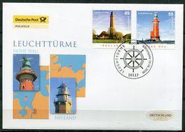 "First Day Cover Germany 2006 Mi. Nr.2555/56 Ersttagsbrief ""Leuchttürme-Neuland Und Hohe Weg "" 1 FDC - Lighthouses"