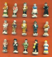 Serie Complète De 15 Feves Les Villageois 1998 - Regions