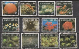 Singapore 740-752 1994 Corals And Reef Life, Mint Never Hinged - Singapore (1959-...)