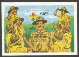 Ghana 1982 Scouting Baden Powell Michel Block 96 Mint - Ghana (1957-...)