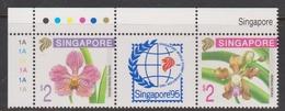 Singapore 782-783 1995 Singapore 95 Orchids, Mint Never Hinged - Singapore (1959-...)