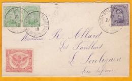 1915 - Enveloppe De Sainte Adresse, France (Gouvernement Belge En Exil) Vers Le Pouliguen - Cad Arrivée - Weltkrieg 1914-18