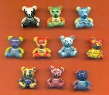 Serie Complète De 10 Feves Les Messages Des Petits Ours - Animals