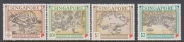 Singapore 832-835 1996 Old Maps, Mint Never Hinged - Singapore (1959-...)