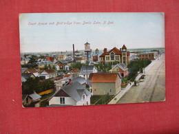 Court House & Birds Eye View  ---Devils Lake     North Dakota > Ref 3076 - United States