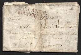 LAC - HOLLANDE / TROUPES F.aises - CAMP DEN HELDER - RARE - Marcophilie (Lettres)
