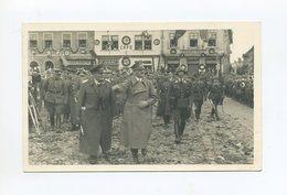 1938 3.Reich Photokarte Der Einzug Des Führers Und Von Göring In Freudenthal Sudetenland , Frankiert + Befreiungsstempel - Sudetes