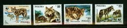 Polen  1985,4v,set,WWF,wolf,lobo,lupo,MNH/Postfris(A3563) - Honden