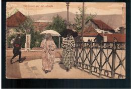 BOSNIA Türkinnen Auf Der Strasse Ca 1920 OLD POSTCARD 2 Scans - Bosnia And Herzegovina