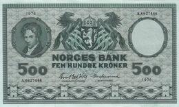* NORWAY 500 KRONER 1976 P-34f XF [NO034f] - Noorwegen