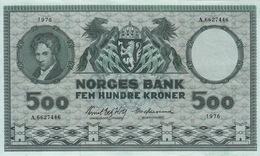 * NORWAY 500 KRONER 1976 P-34f XF [NO034f] - Norway