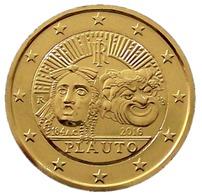 ITALIE 2016 - 2 EUROS COMMEMORATIVE - PLAUTO -  PLAQUE OR - Italie