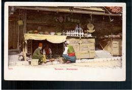 BOSNIA Sarajevo Marktplatz Ca 1910 OLD POSTCARD 2 Scans - Bosnia And Herzegovina