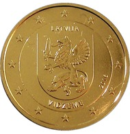 LETTONIE 2016 - 2 EUROS COMMEMORATIVE - VIDZEME -  PLAQUE OR - Lettonie