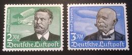 Deutsches Reich 1934 Luftpost Mi 538-39x ** Postfrisch  Otto Lilienthal & Graf Von Zeppelin (Allemagne Germany 1933-45 - Nuovi