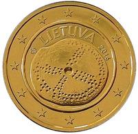 LITUANIE 2016 - 2 EUROS COMMEMORATIVE - CULTURE BALTIQUE -  PLAQUE OR - Litouwen
