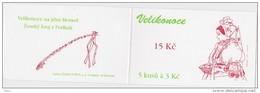 Carnet De 5 Timbres YT C 101 Paques 1996 Panier D'oeuf Costume / Booklet Michel MH 0-34 Easter Ostern - Tchéquie