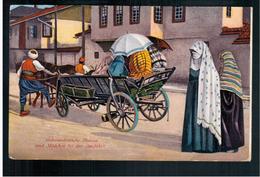 BOSNIA Mohamedanische Frauen Und Mädchen Bei Der Ausfahrt Ca 1920 OLD POSTCARD 2 Scans - Bosnia And Herzegovina