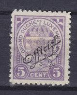 Luxembourg 1926 Mi. 133    5c. Staatswappen Mit Schrägem Aufdruck 'Officiel', MNG - Officials