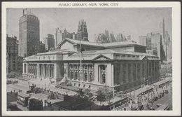 Public Library, New York, C.1930s - East & West Postcard - Manhattan
