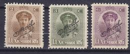 Luxembourg 1922 Mi. 109-11   Grozzherzoginn Charlotte Mit Schrägem Aufdruck 'Officiel', MH* - Officials