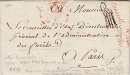 FRANCE  LETTRE DU CONSEILLER D'ETAT REAL  (1810 : PREMIER EMPIRE) - 1801-1848: Voorlopers XIX